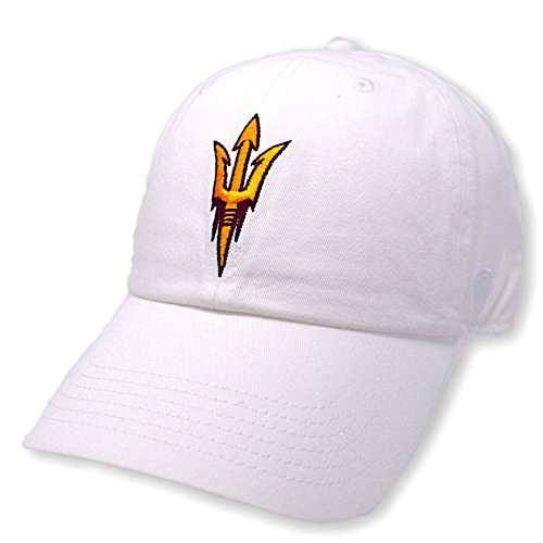 (Top of the World NCAA Arizona State Sun Devils Men's Adjustable Hat Relaxed Fit White Icon, White)