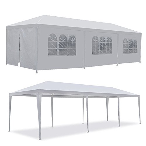 Cheap Tenozek 10′ X 30′ Canopy Tent, Heavy Duty Outdoor Gazebo Weddin Party Tent with 8 Removable Walls White (10′ x 30′ Canopy Tent with 8 walls)