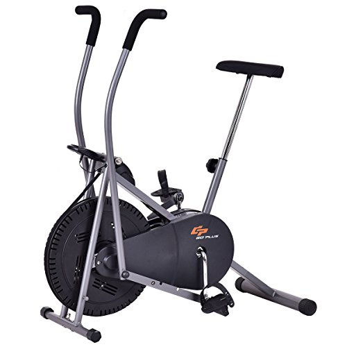 Goplus Elliptical Bike Upright Exercise Fan Bike Bicycle Air Resistance Stationary Cardio Fitness Cross Trainer