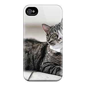 Awesome Cat Tie Flip Cases With Fashion Design For Iphone 6