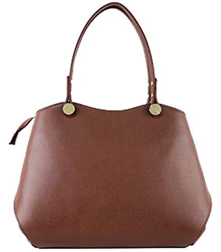 G&G PELLETTERIA - Bolso de asas de Piel para mujer marrón