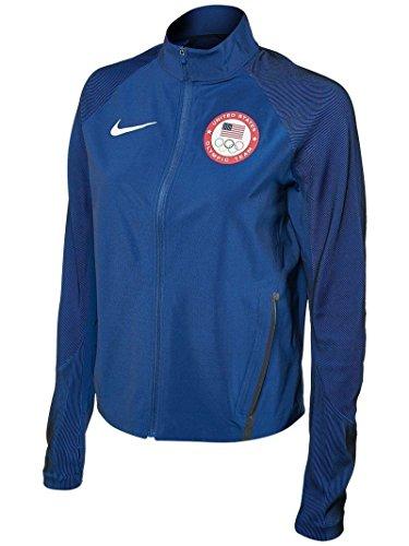 Nike Women's Olympic Team USA Flex Running Jacket Obsidian XS