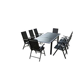 Ensemble Table de jardin en Aluminium Gris anthracite avec ...