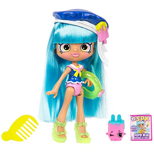 5' Shoppie Doll with Matching Shopkin & Accessories, Popsi Blue
