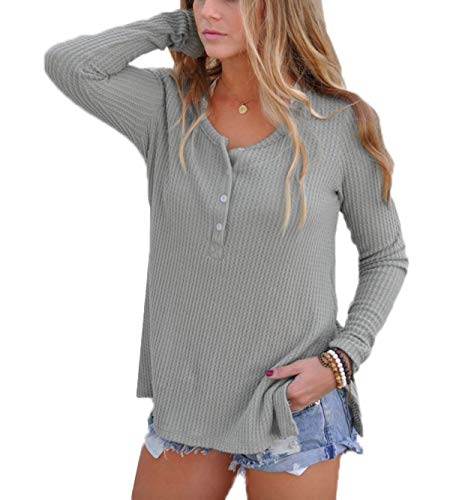 ulein Gris Automne Blouse Casual Jumper Tops Hiver Longues Manches Pulls Femmes Hauts Fox Sweater Chandail Fr Fashion daWqx6wE7E