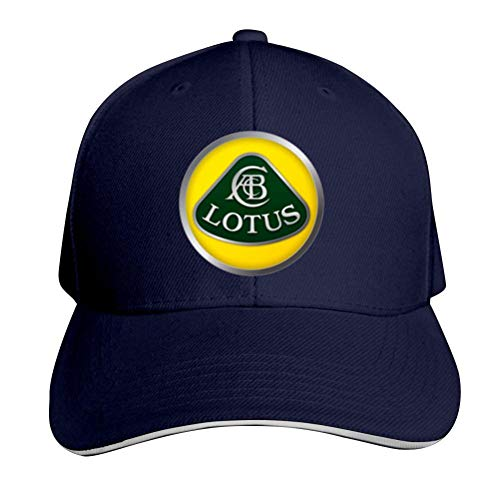 (TIMOTHY HORN Lotus Cars Logo Unisex Adult Adjustable Peaked Sandwich Hats Trucker Cap Baseball Cap Navy)