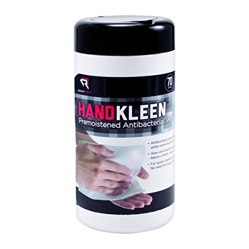 Read Right HandKleen Antibacterial Hand Wipes, 70 Wipes per Pop-Up Tub (RR1460)