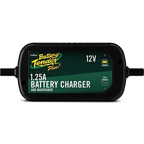 Battery Tender 12V, 1.25A High Efficiency Battery Charger (Best Battery Tender For Car Storage)
