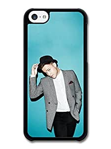 MMZ DIY PHONE CASEOlly Murs Hat Blue Background Portrait case for iphone 6 4.7 inch