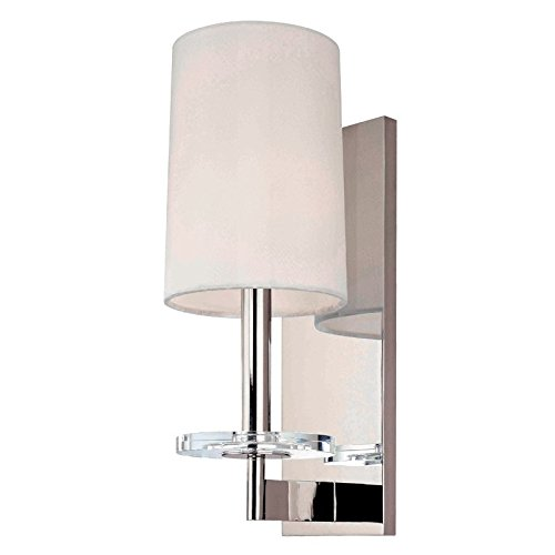 - Hudson Valley Lighting 8801-PN One Light Wall Sconce from The Chelsea Collection, 1, Polished Nickel