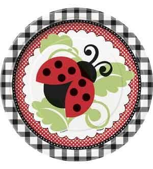Lively Ladybugs 7 Inch Plates 8 Ct (6 Piece/Pack) - 44094 ()