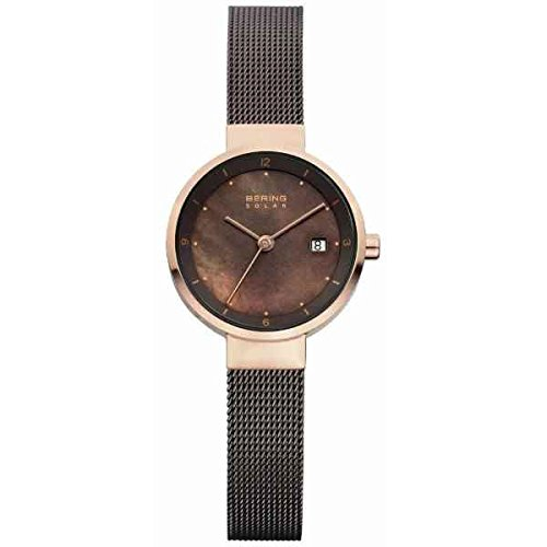 BERING Time 14426-265 Women's Solar Collection Watch with Mesh Band and scratch resistant sapphire crystal. Designed in Denmark.