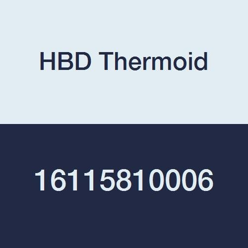 HBD Thermoid CR 1158 Softwall Aromatic Fuel SAE 30R2 Type 2 Hose, 500 PSI, 6' Length, 1'' ID, Black