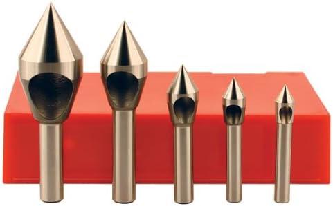 """KEOゼロフルートm35コバルト皿穴バリ取りツールセット–モデル:ツール材質: m35コバルト含ま角度: 60Degressシャンク直径: 1/ 4インチ、1/ 4インチ、5/ 16インチ、3/ 8インチ、3/ 8""""全体長: Assortedフルートの番号: 0"""