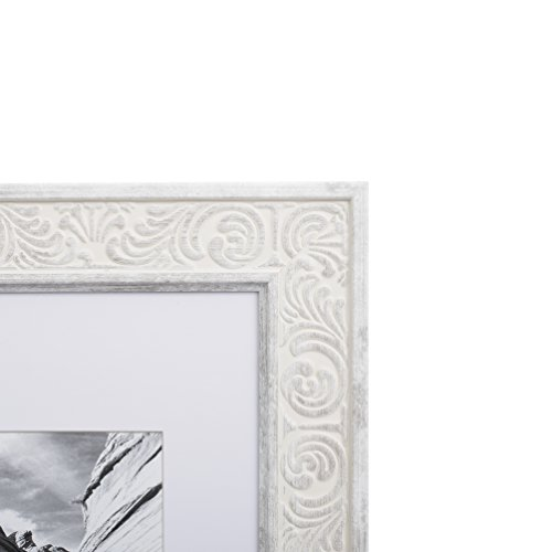 8x10 Picture Frame White Matted For 5x7 Frames By Ecohome