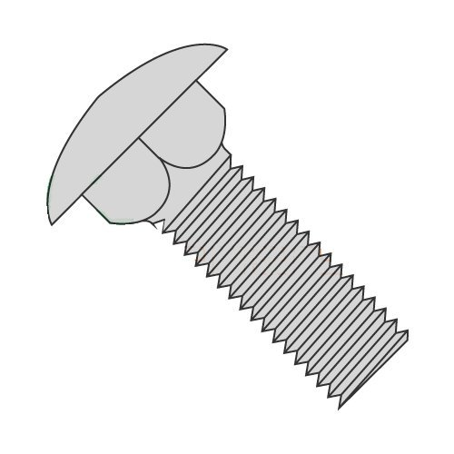 5//16-18 X 3 1//2 Carriage Bolts//Fully Threaded//Steel//Hot Dipped Galvanized Quantity: 500