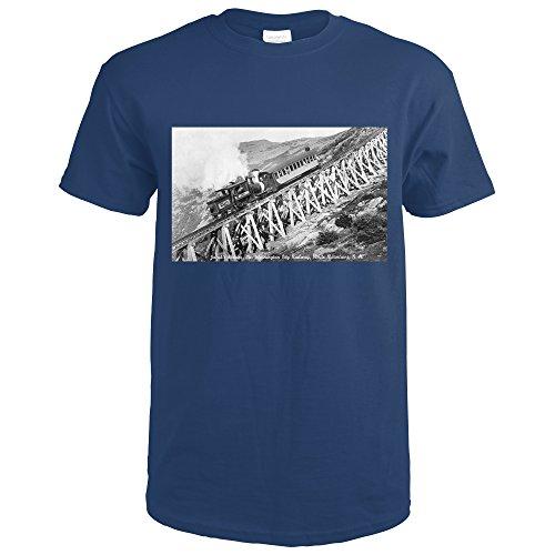 White Mountains, NH - Mt. Washington Cog Train, Jacob's Ladder (Navy Blue T-Shirt Large)