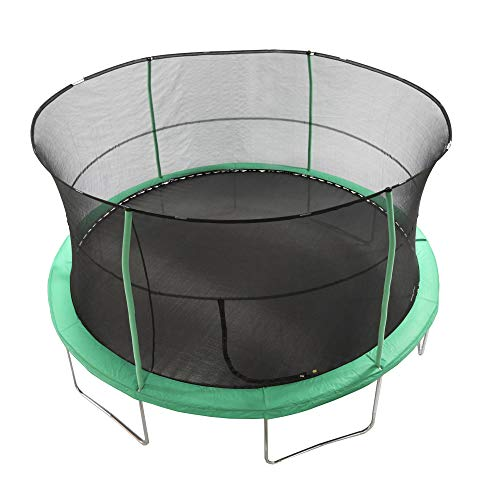 JumpKing 14 Foot Padded Enclosed Round Trampoline with G3 Poles & Safety Lock by JumpKing (Image #3)