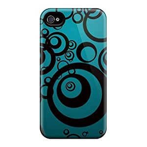 For Iphone Case, High Quality Black Circles For Iphone 4/4s Cover Cases