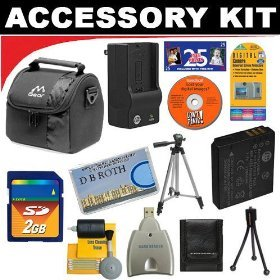 430rs Digital Camera Battery - 2GB DB ROTH Deluxe Accessory kit For The Pentax Optio 430RS, 330RS, 430 Digital Cameras
