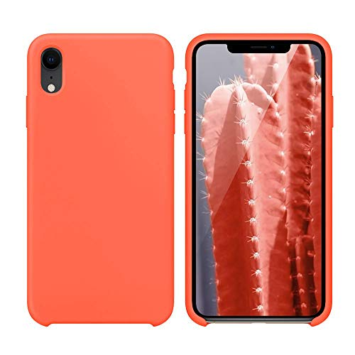 - Silicone Case for iPhone Xr, Slim Liquid Silicone Rubber Soft Microfiber Lining Anti-Slip Protective Case Cover Compatible with iPhone Xr 6.1