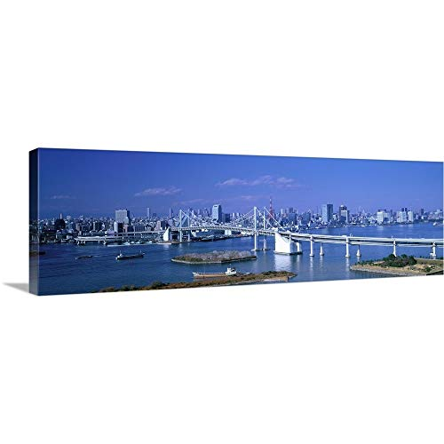 """GREATBIGCANVAS Gallery-Wrapped Canvas Entitled Tokyo Japan by 90""""x30"""" from GREATBIGCANVAS"""