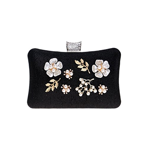And European Evening HKC 1 2 American Bag Women's Banquet Lady��s Color Dinner Flower Bag Clutch RAYfXq