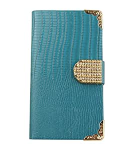 Lizardstripe Wallet TPU Case Cover for 5.5 Iphone 6 (Blue)