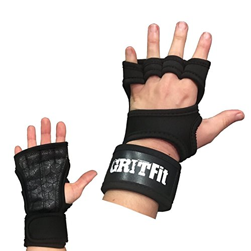 #1 Cross Training Gloves with Wrist Support, Weight Lifting Gloves for Gym Workouts, Powerlifting, Crossfit | Strong Hand Grip, Non-Slip, Silicone Padding to Avoid Calluses | For Men & Women: Sml (Assist Glove Wrist)