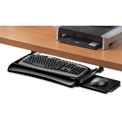 Fellowes Office Suites Underdesk Keyboard - Office Suites Underdesk Keyboard Drawer, 20-1/8w x 7-3/4d, Black, Total 2 EA, Sold as 1 Carton
