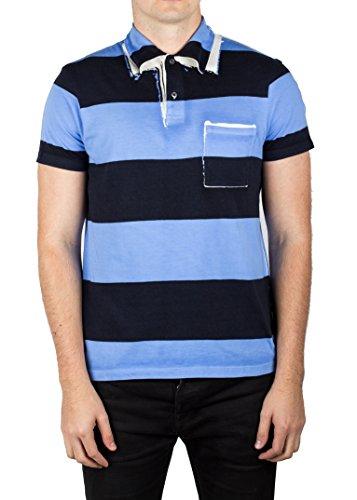 Prada Men's Jersey Sport Pima Cotton Slim Fit Pocket Polo Shirt Blue - Prada Polos