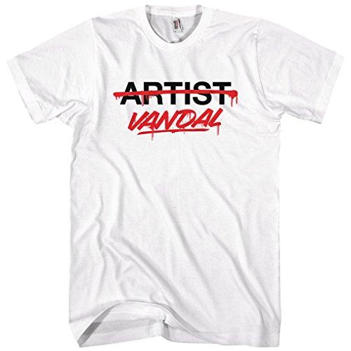 Smash Transit Men's Vandal Not Artist T-Shirt - White, ()