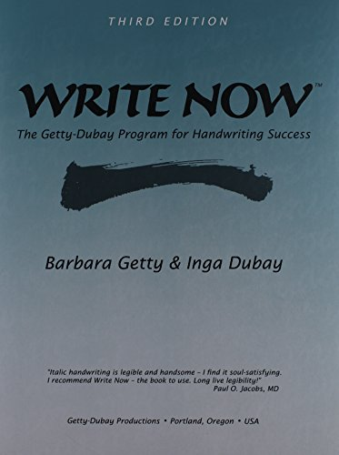(Write Now The Getty-Dubay Program for Handwriting Success)
