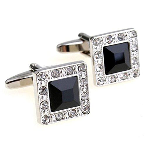 Crystal Elegant Cufflinks (Super Shiny Swarovski Quality Crystal Cufflinks Elegant Style Business Party Used)
