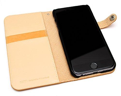 LIM's Design Premium Calf Leather Diary Case for iPhone 6 (Light brown)