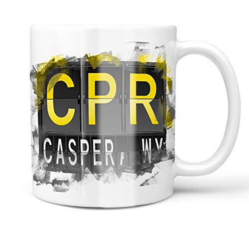Neonblond 11oz Coffee Mug CPR Airport Code for Casper, WY with your Custom Name