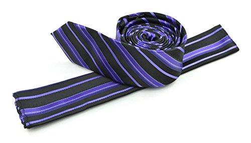 Moda Di Raza Men's Slanted Shadow Stripe Ties Modern Imported Fashion Neckties-Berry - Shadow Stripe Tie