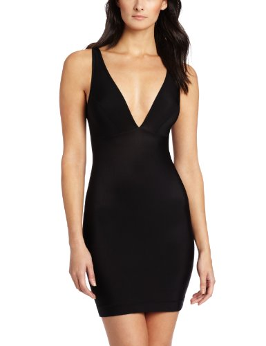 Nearly Nude Womens Firming Microfiber Slip, Black, Small Apparel Accessories Clothing -7433