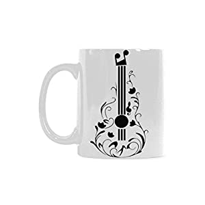 Violin Personalized Funny Healthy Ceramic Classical White Mug, Coffee,Water,Tea Cup for Women/Men
