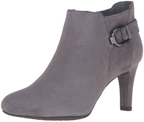 Bandolino Women's Layita Ankle Bootie, Grey, 11 M US