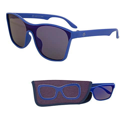 Sunglasses for Children – Smoked Lenses, Crystal Frame - Ages 3 to 12 (Blue-5, Blue)
