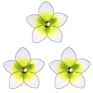 "The Butterfly Grove Makena Plumeria Flower Decoration 3D Hanging Mesh Nylon Decor, Yellow Daffodil, Mini, 3"" 18"