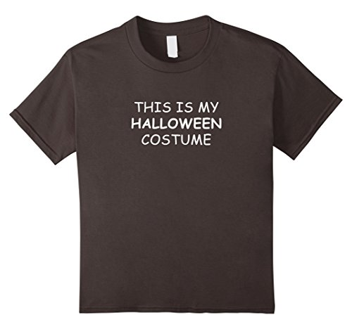 [Kids This Is My Halloween Costume T-Shirt for Lazy People 4 Asphalt] (4 Person Halloween Costumes Ideas)