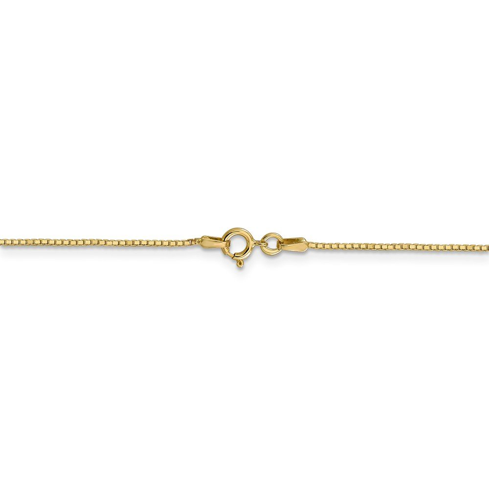 14K Yellow Gold Unisex Kids 0.90MM Box Link Chain Necklace