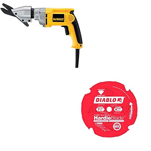 DeWalt d28605 5/16 inch HD VRS Cement Shear & Freud D0704DH Hardie Cement Saw Blade
