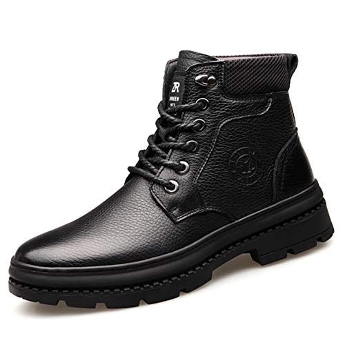 Steel Toe Boots Jump (GanQuan2018 Men's Martin Boot Round Toe Lace-Up Winter Outdoor Work Boots)