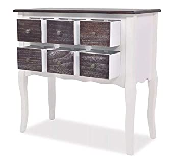French Style Chest Drawers White Antique Bedroom Living Room Wooden