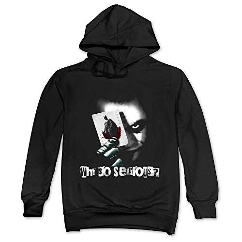 Mens Joker Why So Serious The Dark Knight Hoodie Black 100% Cotton