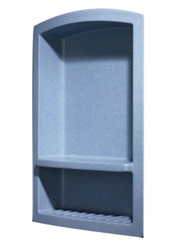 Swanstone RS02215.042 Solid Surface Single Shower Shelf, 4.3125-in L X 15-in H X 22-in H, Gray Granite