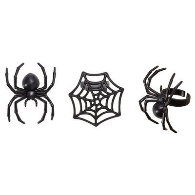 Halloween Spider and Web Cupcake Rings - 24 pc -
